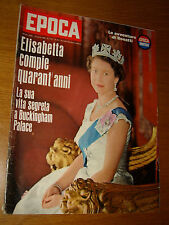 EPOCA 1966/813=QUEEN ELIZABETH=NAVE MICHELANGELO=CARLO CARRA=BRUNELLO RONDI=