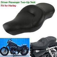 Fahrer & Sozius 2-up Sattel Sitzbank für Harley Sportster 883 Custom XL883 04-13