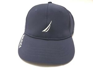 Nautica Blue 6-Panel Cap Hat J Class Logo Embroidered Dad Hat New