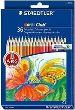 Staedtler Coloured Pencil Noris Club 36 Colours 144 ND36 Drawing Sketching