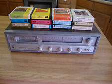 VINTAGE LLOYD'S AM-FM-MPX 8 TRACK STEREO PLAYER W/  12 CASSETTE TAPES FOR PARTS