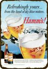 1959 HAMM'S BEER -Refreshingly Yours- Vintage-Look DECORATIVE REPLICA METAL SIGN