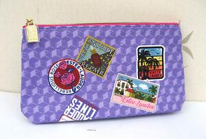 Estee Lauder Purple  Patterned Make Up Bag New