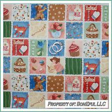 BonEful Fabric FQ Cotton Quilt Block Birthday Cupcake Kitchen Farm Girl Cat Dog