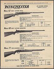 1961 WINCHESTER SHOTGUN AD Model 59 Automatic~37 Single-Shot & Beginner's