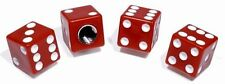 TAPPI Valvola Set CUBO Rosso Red Dices per Harley Fat Boy Bici Chopper Hot Rod