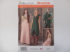 Simplicity 1008 Medieval GOT HG Cosplay, DRESS/ CAPE/SCARF, Elf Costume Pattern