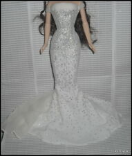 DRESS BARBIE DOLL MATTEL BIRTHSTONE APRIL FITTED GLITTER EVENING GOWN  ACCESSORY