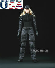 """1/6 Camouflage Soldier Combat Set For 12"""" Phicen Hot Toys Female Figure U.S.A."""