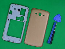 For Samsung Galaxy Grand 2 G7106 G7102 Gold Housing Middle Frame Battery Cover