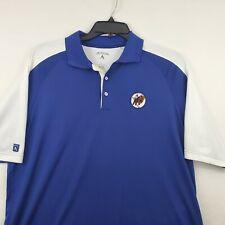 Antigua Buffalo Bisons MiLB Polo Shirt Baseball Size L Royal Blue