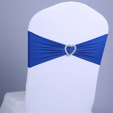 Spandex Heart Stretch Wedding Chair Cover Sashes Bow Band Party Banquet Decor