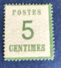 Alsace Lorraine N° 4 5 C Vert Jaune Neuf ** Signe Claves TB Cote 250€