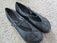 Dansko Womens Portia Black Leather Buckle Mary Jane Shoes Size 39