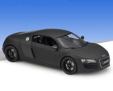 Welly 1:24 Audi R8 Diecast Metal Model Roadster Car Matte Black