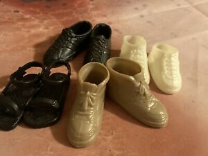 Ken Doll Shoe Lot - 4 Pairs - Vintage Pre-owned. Excellent! Fast Ship. 🎁