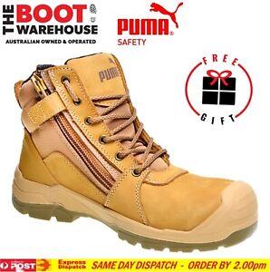Puma Tornado WHEAT 630787 Safety Work Boot. Zip Side. Scuff cap. Nubuck Comfort