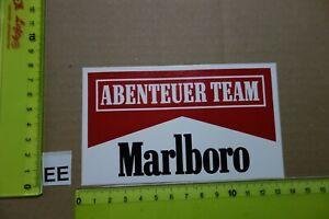 Alter Aufkleber Zigaretten Motorsport MARLBORO Abenteuer Team