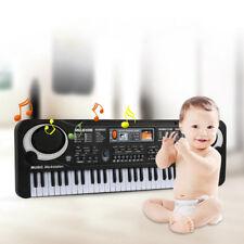 61Key Electronic Keyboard Music Electric Digital Piano Organ w/ Mic & Adapter U1
