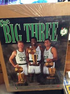 LARRY BIRD KEVIN McHALE ROBERT PARISH Big Three 3x Champs BOSTON CELTICS Poster