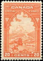 Mint Canada 1927 20c Scott #E3 Special Delivery Stamp Never Hinged