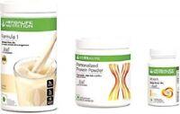 Herbalife Formula 1 Weight Loss Vanilla Shake, Protein Powder & Lemon Pack Of 3