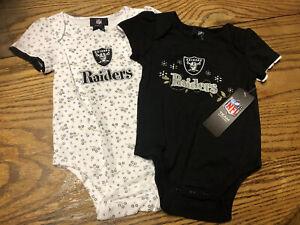 Oakland Raiders/las Vegas 2pc Infant Set  Girls24 Monthes