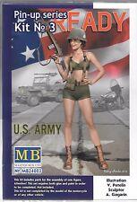 Master Box Pin Up Girl, Gal No. 3,  1/24, US Army Alice  003 ST