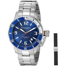 Stuhrling Original Men's 42mm Steel Bracelet Swiss Quartz Watch 676.02.SET