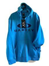 Mens OAKLEY Hoodie ZIp Thru Jumper BLUE Sz XL
