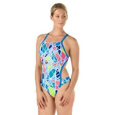 Speedo Womens 28 Turnz Vee 2 Back Training Swimsuit Endurance Lite Competition