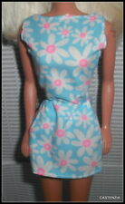 TOP BARBIE MATTEL 1996 CHIC WHITE FLOWER FLORAL PRINT DRESS ACCESSORY CLOTHING