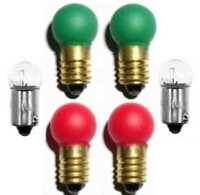 Switch Track BULBS Set 2 ea. 1445 432G 432R for Lionel Marx O O27 Gauge Train