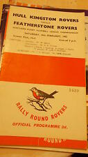 24.2.62 Hull KR v Featherstone Rovers programme