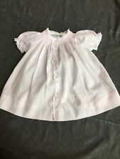 Feltman Brothers Hand Embroidered NEWBORN Pink Dress with Lace *Read description