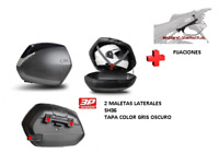 KIT SHAD fijacion + maletas later. tapa negro metal SH36 HONDA INTEGRA 700 12-13
