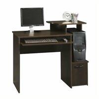 Pemberly Row Office Wood Computer Desk in Cinnamon Cherry