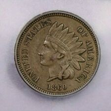 1860-P 1860 Indian Head Cent Pointed bust variety 1C ICG AU58