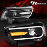 LH+RH LED DRL+SEQUENTIAL TURN SIGNAL PROJECTOR HEADLIGHT FOR 11-14 DODGE CHARGER