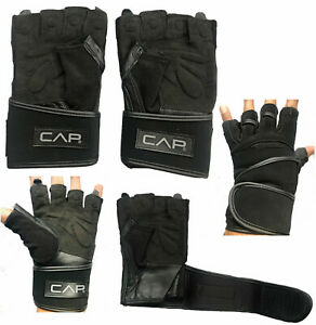 CAP Weight Lifting Gloves Leather Gym Powerlifting Bodybuilding Fitness Training