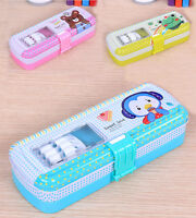 Student's Cute Cartoon Multifunction Holder Storage School Pencil Case Box Gift
