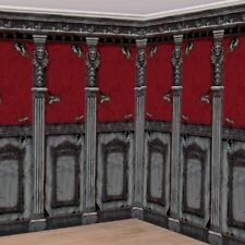 2pk Gothic Mansion Room Rolls 6m x 1.2m (per roll) Halloween Decorations