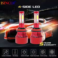 H11 LED Headlight 6000K 2018 2240W 336000LM 4-Side Kit Low Beam Bulbs High Power