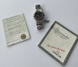 OMEGA Seamaster 396.1041 Professional 200m Black Gold Quartz Men's Watch Papers
