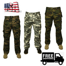 Men's Woodland Camouflage Uniform Military Tactical Style Pants Polyester Winter