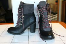 Report WOMENS Man-Made Faux Lining Lace Up Fashion Boots IRYNA Sz 7-1/2