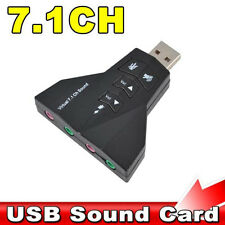 Hot 3D Audio Card Converter Dual Sound Card 7.1 Channel USB 2.0 Audio Adapter