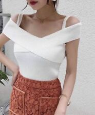 KNITTED OFFSHOULDER TOP (DZ) White