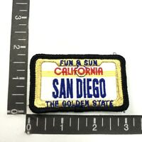 LICENSE PLATE THEME PATCH SAN DIEGO California The Golden State Patch 99K6