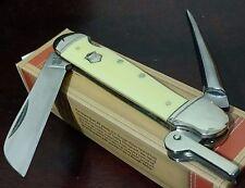 VINTAGE YELLOW MARLIN SPIKE SAILORS POCKET KNIFE LOCKBACK !!!